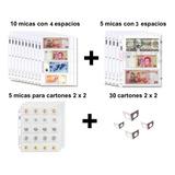 Paquete 20 Micas Para Billetes Y Monedas Más Cartones 2x2
