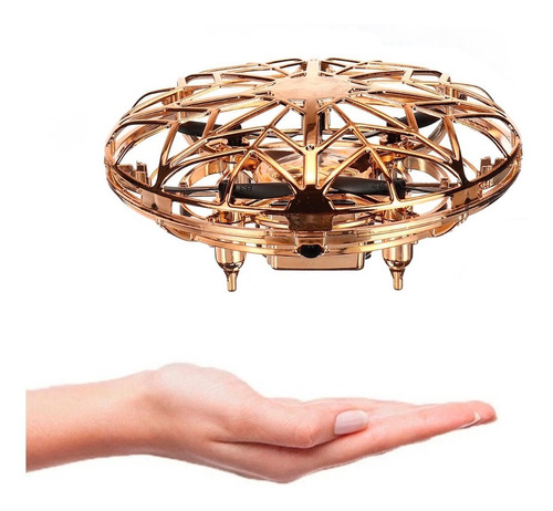 Mini Dron Ufo Con Luces Led Recargable Usb / Ofc
