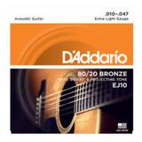 Cuerdas Guitarra Electroacustica Daddario Ej10 Bronze 80/20