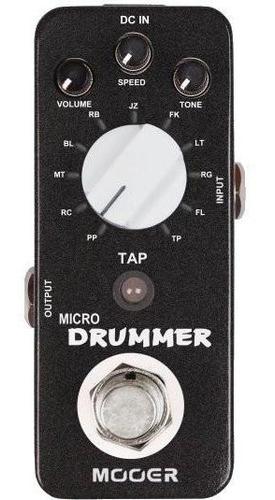 Pedal De Efecto Mooer Micro Drummer/digital Drum Machine