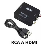 Convertidor Adaptador De Hdmi A Rca, Hdmi A Av Audio Video