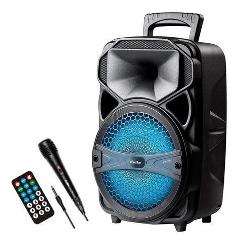 Parlante Portatil Kolke Con Microfono Usb Sd Control Remoto