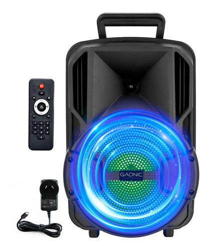 Parlante Portatil Bluetooth Gadnic Usb Mp3 Fiesta Eventos