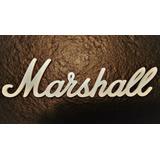 Logo Marshall Para Caja Cabezal O Combo