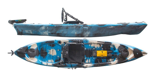 Kayak Hidro2eko Caiman 125 Pro Camu Azul - Kayaks Feelfree