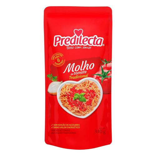 Molho De Tomate Tradicional Predilecta Sem Glúten Em Sachê 340 G