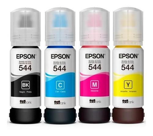 Pack 4 Botellas De Tinta Epson T544 L1110.l3110,l3150,l5190
