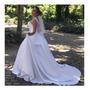 Vestido De Noiva Princesa Com Alça Renda Luxo Império+brinde Original