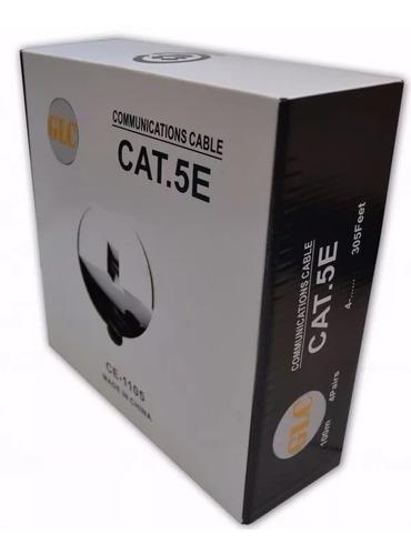 Bobina De Cable Utp Glc Cat5e Doble Vaina Exterior 100 Mts