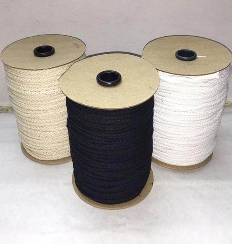 Cordón De Algodón De 5mm Blanco X Rollo 100 Mts