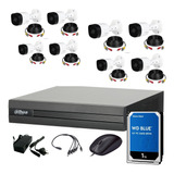 Cuotas Sin Interes Dahua Kit Seguridad Dvr 8 Ch Hdmi P2p + 8 Camaras Full Hd 1080p 2mp Interior Exterior + Disco 1 Tb