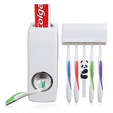 Dispensador Pasta Crema Dental Con Organizador De Cepillos