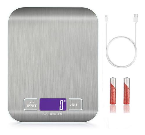 Bascula Digital Para Cocina Acero Inoxidable 10kg /22 Lbs