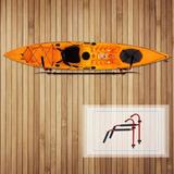 100lbs / 45.3kg Escalera De Kayak Soporte De Pared Soporte D