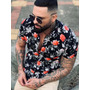Camisa Slim Estampa Digital Floral Bold 2071 Original