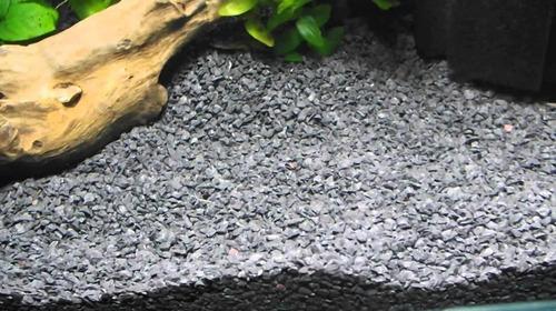 Grava Negra Acuario Pecera Piedras Gravilla Sustrato Decora