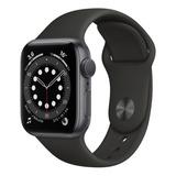 Apple Watch  Series 6 (gps) - Caja De Aluminio Space Gray De 40 Mm - Correa Deportiva Black