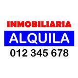 Carteles Cartonplast - Inmobiliaria Vende Alquila
