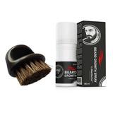 Loción De Crecimiento De Barba + Cepillo Barbería Regalo