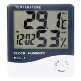 Termómetro De Pared Digital Control De Humedad Reloj Alarma®