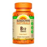 Vitamina B12 - Sundown Naturals - 200 Cápsulas - Envíos
