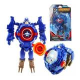 Reloj Avengers Que Se Transforma En Robot Con Luces Niños