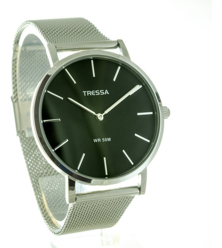 Reloj Tressa Malla Tejida Acero Sumergible Garantía Oficial