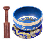 Muslady - Cuenco Tibetano (9,5 Cm), Color Azul