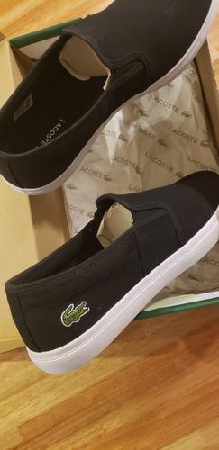 Zapatillas Panchas Unisex Lacoste Negra Original