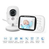 Monitor De Bebé Inalámbrico Con Visión Nocturna Y Audio