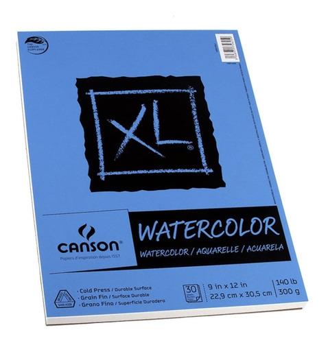Block Canson Xl Watercolor, Acuarela 22.9 X 30.5cms 30 Hojas