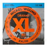 Cuerdas 0,10 D'addario Exl110 Encordado Guitarra Eléctrica