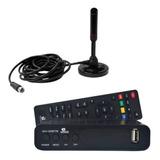 Kit Conversor Digital Hd Hdtv E Antena Interna Digital De Tv