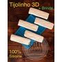 Molde De Silicone Revestimento 3d Gesso Modelo Tijolinho Original