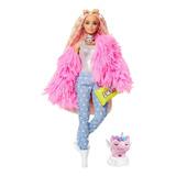Barbie Fashionista Extra Muñeca Abrigo Rosa