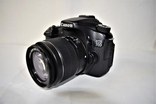 Cámara Canon Eos 70d 20mp, Full Hd, Touch, Semi Profesional