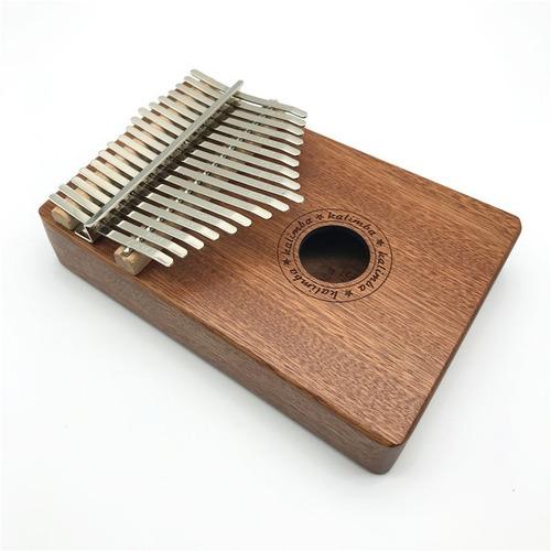 Kalimba Piano Africano De Madera De 17 Teclas
