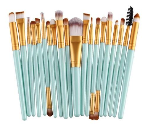 Brochas Para Maquillaje Profesional Set De 20 Pzas