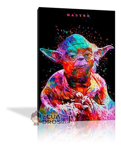 Cuadro Decorativos Star Wars Canvas Textura 28x40cm