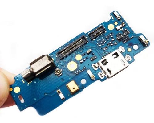 Conector Carga Flex Placa Microfone Moto E4 Xt1762 Xt1763
