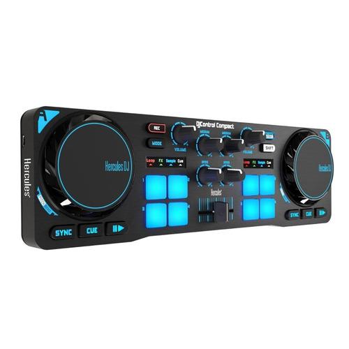 Controlador Dj Portatil Hercules Compact Mixer Virtual Usb