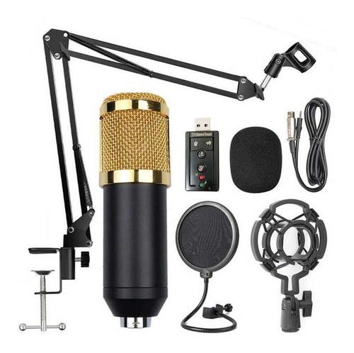 Kit Microfono Condensador Bm 800 Brazo Soporte + Accesorios