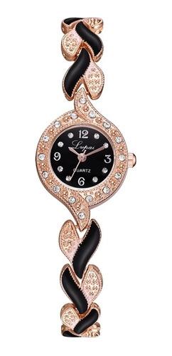 Relógio Luxo Feminino Pulseira Mulheres Cristais Strass