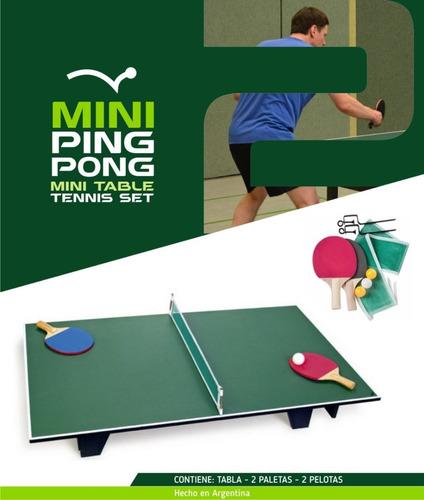 Ping Pong Mini - Sobre Mesa De Mini Ping Pong 130x60 2 Jugad