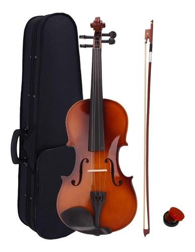 Violin 4/4 Mas Estuche, Arco Y Pecastilla- Envio Inmediato !