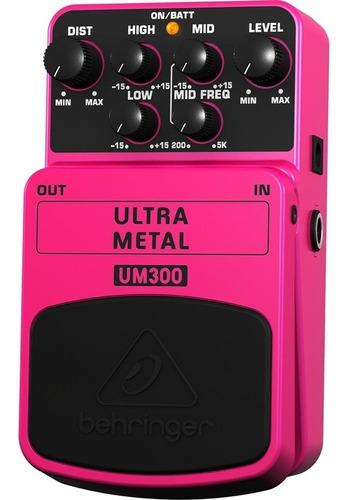 Pedal Guitarra Ultra Metal Um300 Behringer Entrega Inmediata