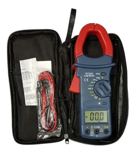 Pinza Amperometrica Digital Tester Dt201 Data Hold Y Luz Lcd