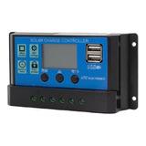 Regulador De Carga Paneles Solares 12v 24v 30a  Usb