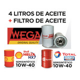Cambio Aceite 10w40 Shell + Filtro D Aceite Para Peugeot 208