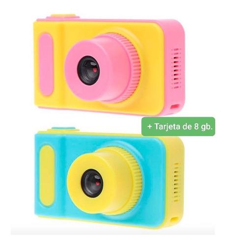 Cámara Fotográfica Niños (fotos Y Vídeos Reales) + 8gb.